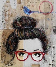 "Saatchi Art Artist Loui Jover; Drawing, ""nevertheless - mounted on canvas"" #art"