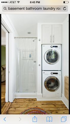 Best Photo Gallery Websites Bathroom Washer and Dryer Contemporary laundry room Rock Paper Hammer