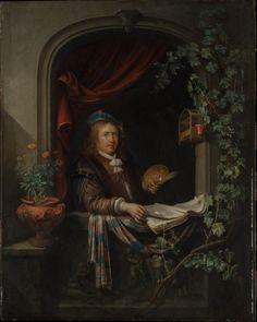 Artist:Gerrit Dou (Dutch, Leiden 1613–1675 Leiden) Автопортрет 1665
