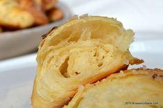 Cornuri sarate cu unt din aluat cu cartofi Savori Urbane (5) Unt, Apple Pie, Quiche, Deserts, Food And Drink, Appetizers, Bread, Pie, Bakery Business
