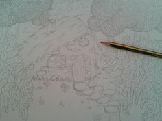 Volviendo hacer #IlustraciónTradicional y empezando un nuevo porfolio. Ahora entintar y darle color.