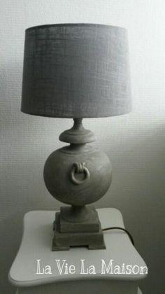 Tafellamp ook behandeld met Annie Sloan French Linen en Old White