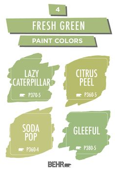 Our green paint colors come in a variety green tones. The color green will give your home a earthy and calming look with any array of green hues. Behr Paint Colors, Green Paint Colors, Exterior Paint Colors For House, Paint Colors For Home, Outdoor House Paint, Girls Room Design, Green Rooms, House Painting, Haus