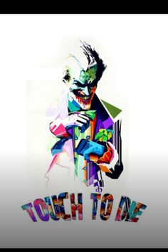 touch to die Android Wallpaper 4k, Mobile Wallpaper, Screen Wallpaper, Joker Drawings, Heath Ledger Joker, Joker Wallpapers, Joker Art, Joker Quotes, Joker And Harley