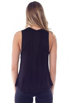 Waffle Hause Daydream Muscle Tee in Black