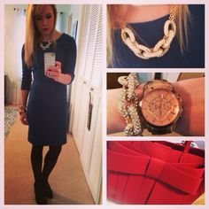 Jewel-toned dress from H&M, Target necklace and bracelet, Jessica Simpson pumps from DSW