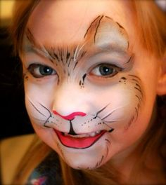 Kat schmink / face paint Cat www.hierishetfeest.com                                                                                                                                                                                 More
