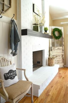 How To Paint A Brick Fireplace In 3 Simple Steps More Log Burner