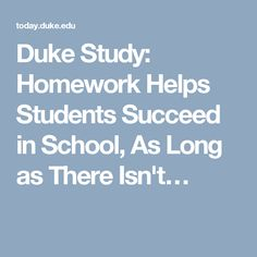 Homework helps students