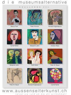 Artiasts of Challenge No.234 Museum, Challenges, Baseball Cards, Frame, Artist, Decor, Alternative, Picture Frame, Decoration