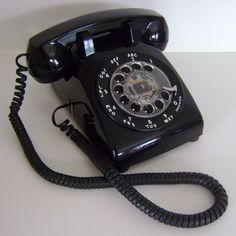 Vintage Rotary Telephone Black by CherryRiversVintage on Etsy, $52.00