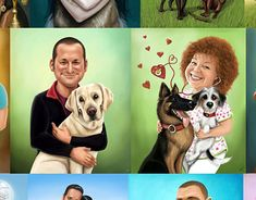 "Check out new work on my @Behance portfolio: ""Caricature Commissions- with animals"" http://be.net/gallery/61583951/Caricature-Commissions-with-animals"