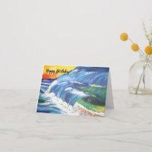 Summer Beach Happy Birthday Card