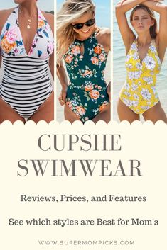 I want a bathing suit that won't make me feel body-shamed, but also won't make me look like I'm trying too hard to recapture my youth. I'm not trying to trick anyone into thinking I'm not a mom, but I also want to be Fashion Beauty, Mom Fashion, Fashion Tips, Fashion Group, Beachwear, Swimwear, Winter Fashion Outfits, Working Moms, Mom Style