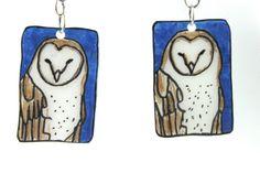 Shrinky Dink Owl Earrings