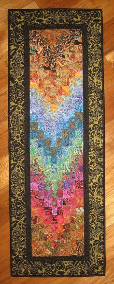 Paisley Passion Art Quilt Fabric Wall Hanging Blue by TahoeQuilts