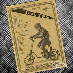 HD Vecchia bicicletta pubblicità Poster del film annata bici classico retrò nostalgico bar pub parete del soggiorno Sticker Art Photo 42x30cm