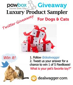 Luxury Product Sampler Giveaway for Pets