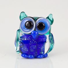 Glow in the Dark Owl Lampwork Glass Bead by maybeads on Etsy, $17.00