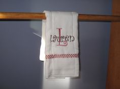 Personalized Embroidered Burp ClothYour by lisawilsonembroidery, $6.00