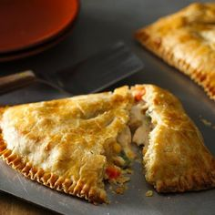Chicken Pot Pie Foldovers