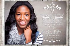 Elegant Graduation Announcement Printable by LuxePartySupply Graduation Announcements, Graduation Invitations, Word Pictures, Boy Or Girl, High School, Printables, Elegant, Celebrities, Jpg File