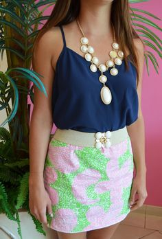 Lilly Pulitzer Cosette Skort, Dusk Top & Set in Stone Necklace