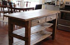 DIY Rustic Kitchen Island