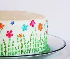 i am baker - Happy birthday/spring celebration cake