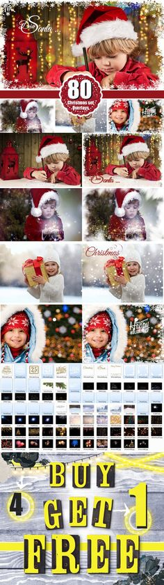 Christmas overlays snow winter. Photoshop Layer Styles. $18.00