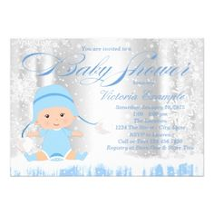 African american princess girl baby shower banner baby gifts winter wonderland boy baby shower invitation invitations custom unique diy personalize occasions negle Gallery