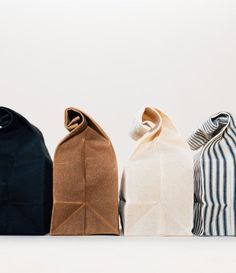 Lunch Bag // Waxed Canvas Lunch Bag Packing a lunch feels much more exciting when it's going inside these beautiful waxed canvas bags.
