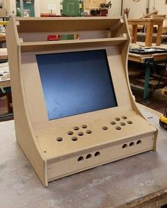 Plans for building a bartop arcade system using a Raspberry Pi - Bartop arcade - Pi Arcade, Arcade Table, Retro Arcade, Arcade Games, Bartop Arcade Plans, Diy Arcade Cabinet, Arcade Joystick, Raspberry Pi Projects, Electronic Parts