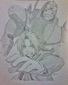 Ilustração Fullmetal Alchemist -Edi santos Illustration Fullmetal Alchemist-Edi santos