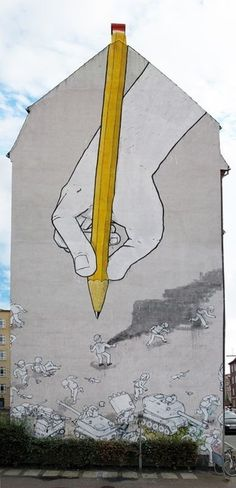 Street Art: Hand Drawing with Pencil