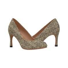 Faux Snake Skin Women's High Heels (Model 048).Faux snake skin pattern shoes. High Heel Models, Snake Skin Pattern, Womens High Heels, Laptop Bag, Shoes Heels, Women's Fashion, Seasons, Tote Bag, Casual