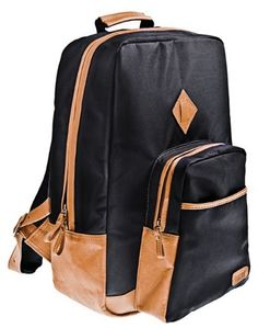 Hasso Luggage Pombo Contrasting Leather Backpack « Clothing Impulse
