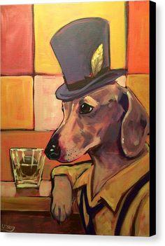 Dog Gone It! by David Ussery - Vango Original Art Arte Dachshund, Dachshund Love, Daschund, Dog Items, Dog Paintings, Canvas Prints, Art Prints, Dog Art, Great Artists