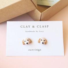 Custom Pet earrings - beautiful handmade polymer clay jewellery by Clay & Clasp