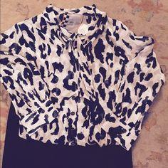 L.A.M.b blouse L.A.M.B beautiful silk black and white silk blouse.  L.A.M.B. Tops Blouses