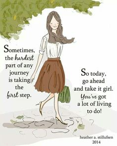 Positive Quotes For Women : Sometimes the hardest part of any journey is taking the first step. So today go Medan, Woman Quotes, Life Quotes, Qoutes, Quotable Quotes, Quotes Quotes, Notting Hill Quotes, Positive Quotes For Women, Positive Things