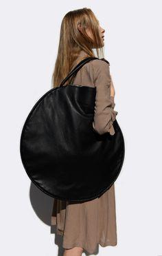 Oversized Handbag - circle bag; bold minimalist style // Jasmin Shokrian