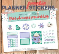 Free Winter Planner Stickers from Dorky Doodles Meal Planner, Free Planner, Planner Pages, Planner Ideas, Happy Planner, Functional Planning, Printable Planner Stickers, Free Printables, Planner Organization