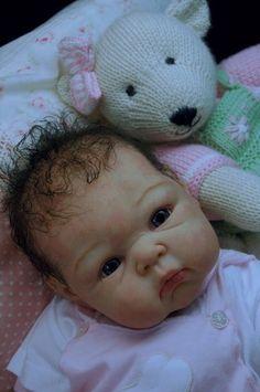 Mummelbaerchens Paris, so cute Reborn Baby Girl, sculpt by Adrie Stoete | eBay