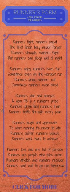 A small piece of poetry for all runners