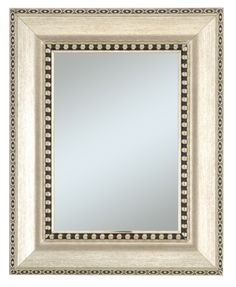 Image of Chalet Beveled Silver and Black Mirror