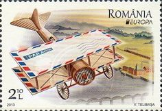 "europa stamps: Romania 2013 - Europa 2013 ""The postman van""  celebrating PostEuropa's 20th anniversary - 1993-2013"