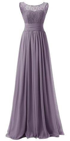 Purple Floor Length Chiffon A-Line Pleated Prom Dress Featuring Lace Sleeveless Bateau Neckline Bodice