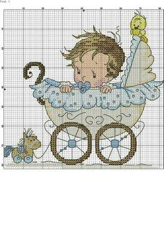 carrinho de bebê ponto cruz