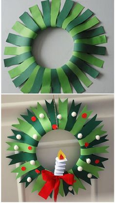 Best 47 DIY Winter Art Projects for Kindergarten that Kids will Love Christmas for you - Happy Christmas - Noel 2020 ideas-Happy New Year-Christmas Christmas Art For Kids, Christmas Art Projects, Winter Art Projects, Christmas Crafts For Kids, Christmas Diy, Christmas Wreaths, Christmas Decorations, Diy Projects, Kids Crafts